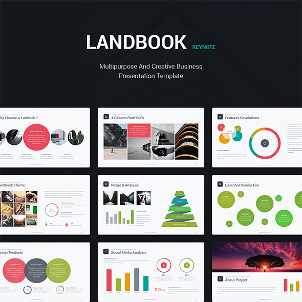Business Theme - Landbook (Keynote) - Business Keynote Templates