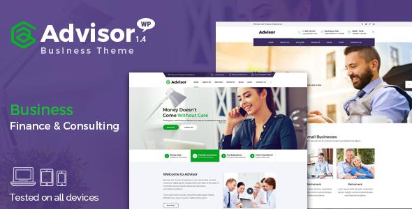Advisor - Consulting, Business, Finance WordPress Theme