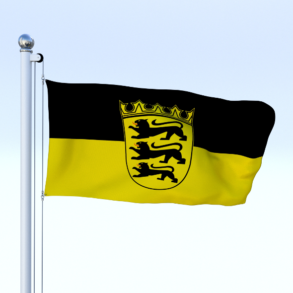 Animated Baden-Wurttemberg German State Flag