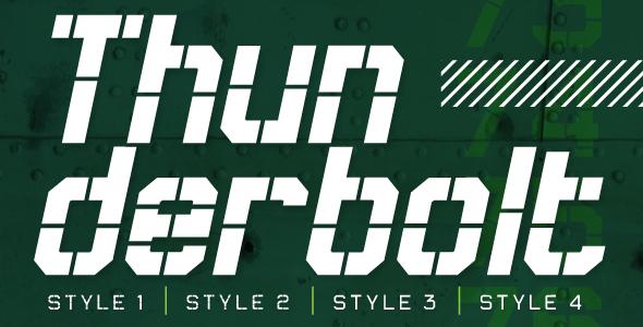 Thunderbolt - Sans-Serif Fonts