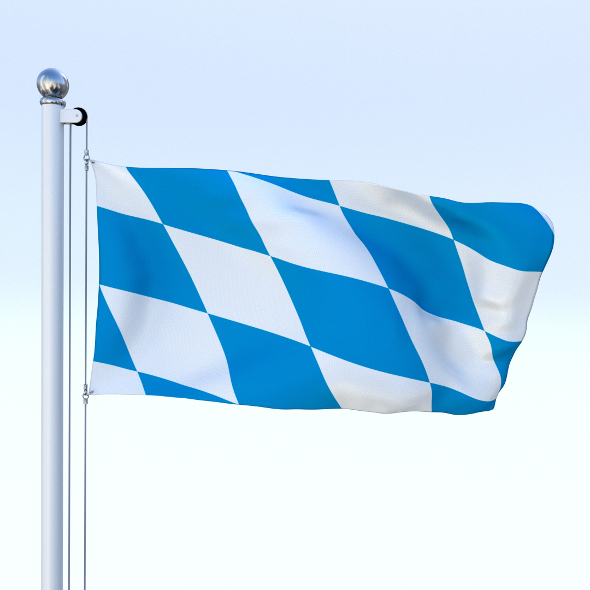 3DOcean Animated Bavaria German State Flag 20478640
