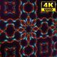 4K Sci-fi Futuristic Kaleidoscope Background Digital Green and Orange Flower 1
