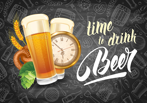 Time To Drink Beer - Food Objects