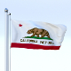 Animated California Flag - 3DOcean Item for Sale