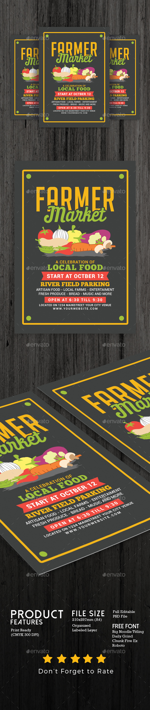 GraphicRiver Farmer Food Market Flyer 20478782