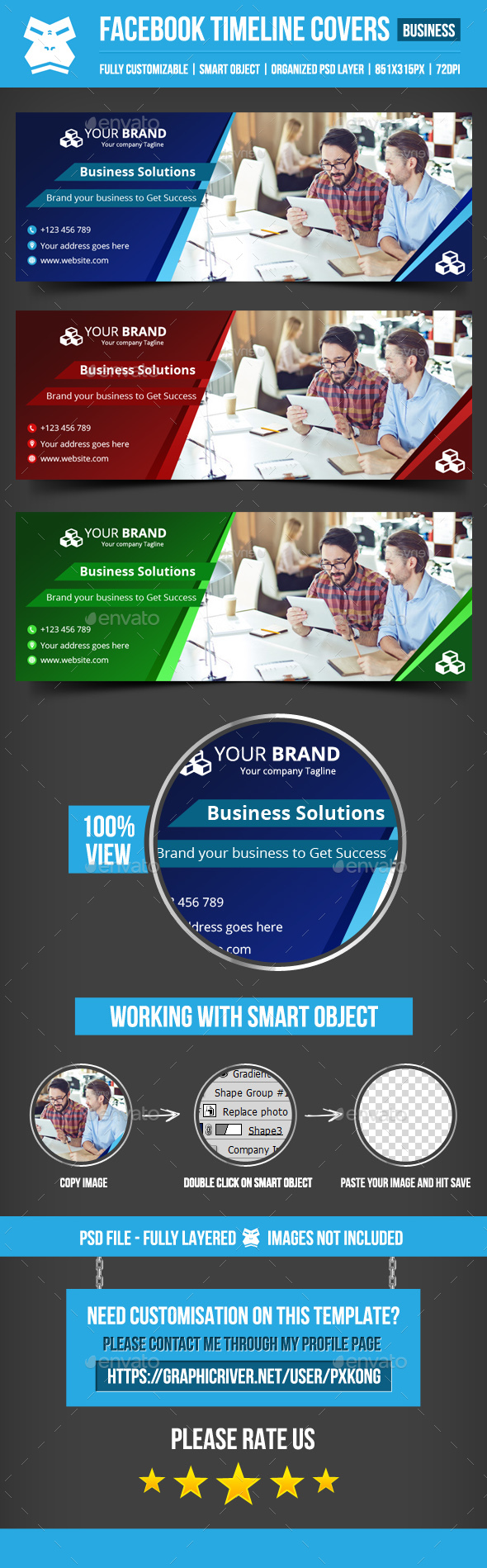 GraphicRiver Business Facebook Cover 20460356