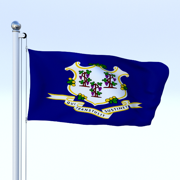 Animated Connecticut Flag