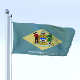 Animated Delaware Flag - 3DOcean Item for Sale