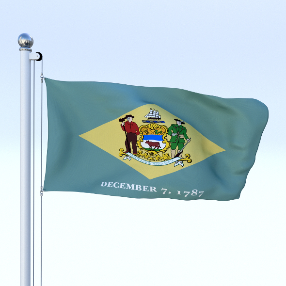 Animated Delaware Flag