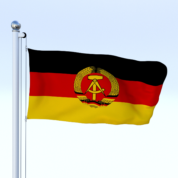 Animated East Germany Flag