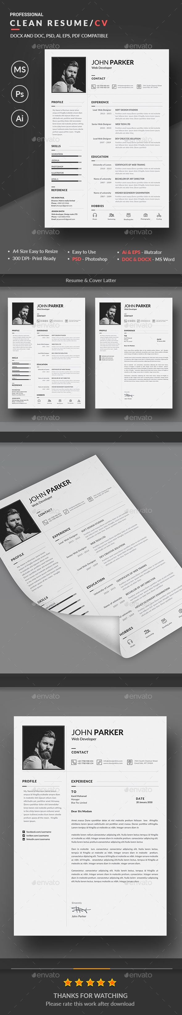 GraphicRiver Resume 20478910