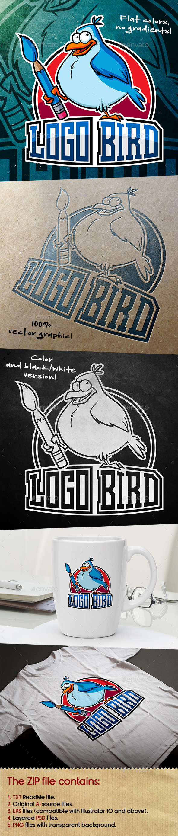 GraphicRiver Logo Bird Mascot 20478953
