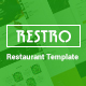 RESTRO - Responsive Cafe & Restaurant Template - ThemeForest Item for Sale