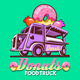 Food Truck Donuts Sweets Shop Fast Delivery Service Vector Logo - GraphicRiver Item for Sale
