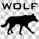 Wolf Silhouette Walk Animation