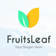 Fruits Leaf - Organic Nature Creative Logo Template