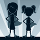 Super Girls Silhouettes - GraphicRiver Item for Sale