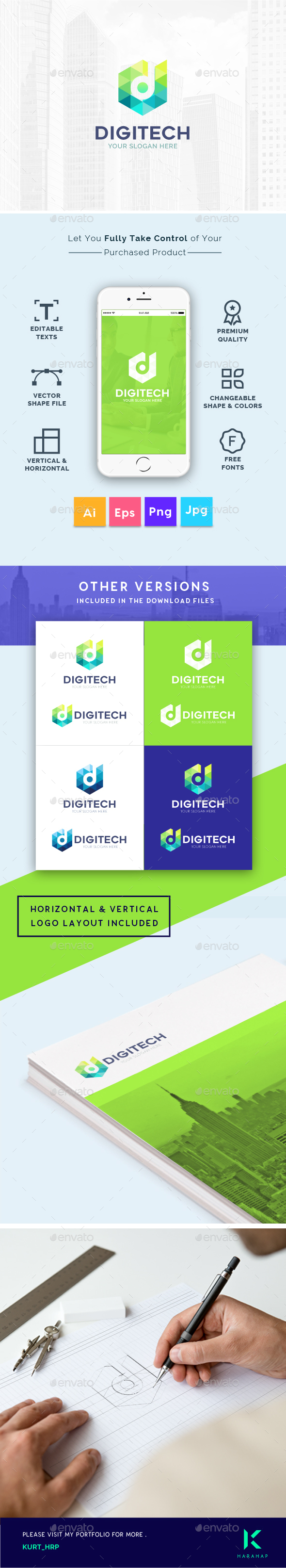 GraphicRiver Digital Technology Company Creative Logo Template 20479221
