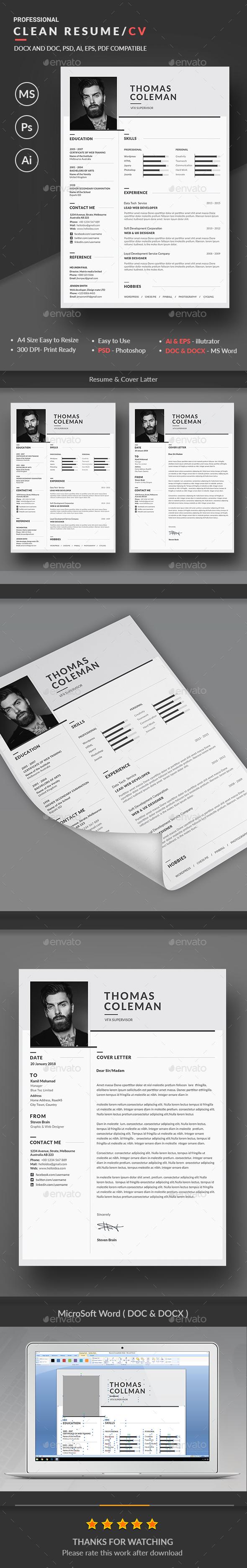 GraphicRiver Resume 20479418