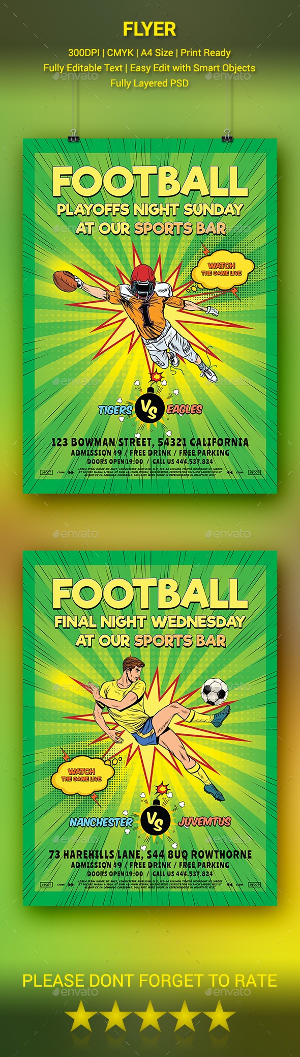 GraphicRiver Football Flyer 20479511