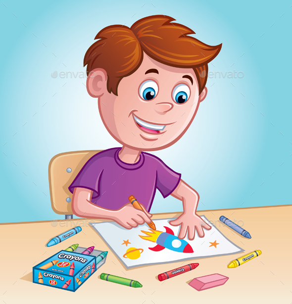 GraphicRiver Coy Coloring with Crayons 20479536