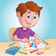 Coy Coloring with Crayons - GraphicRiver Item for Sale