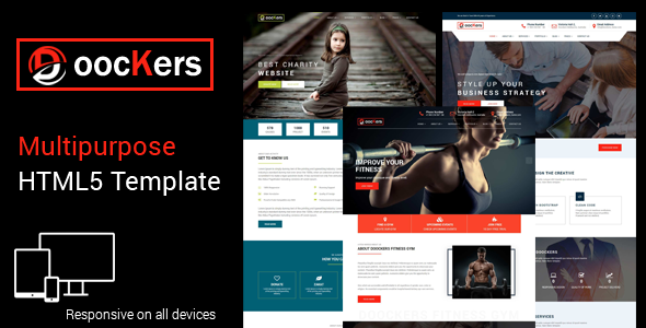 ThemeForest Doockers HTML5 Business Template 20161940