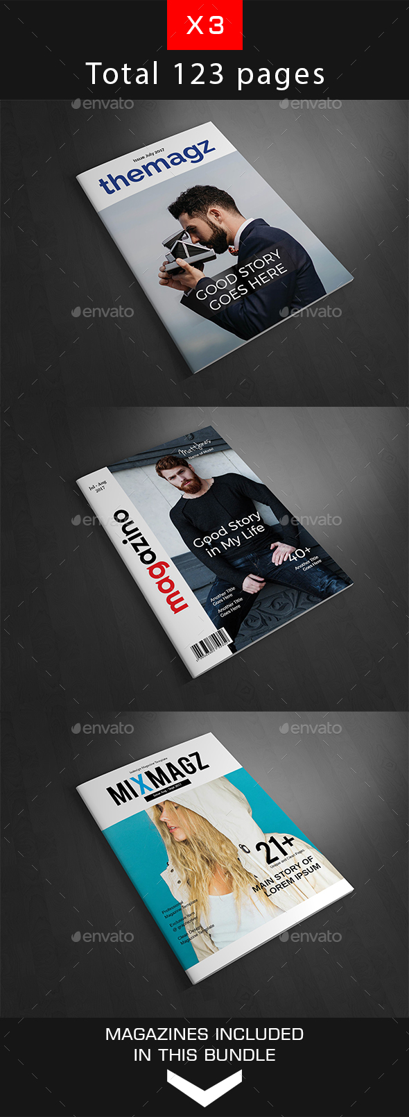 magazine templates from graphicriver