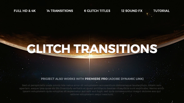 Videohive - Glitch Transitions 20479670