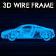 Sports Car 3D Wire Frame v2