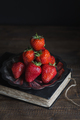 Fresh Strawberries Stacked on Silver Platter - PhotoDune Item for Sale