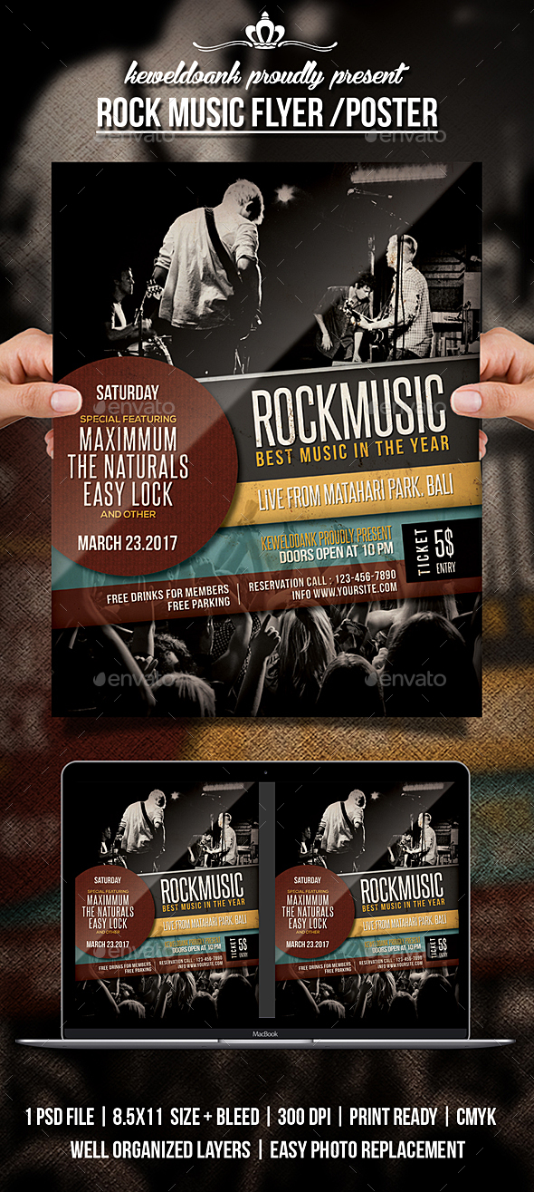 Rock Music Flyer / Poster - Concerts Events