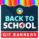 Back To School Animated GIF Banners - GraphicRiver Item for Sale