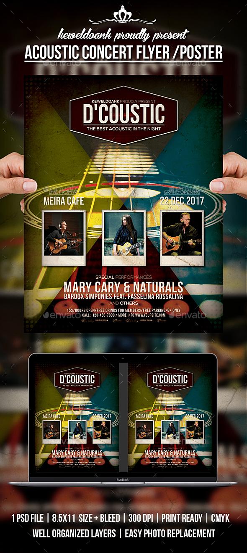 GraphicRiver Acoustic Concert Flyer Poster 20473449