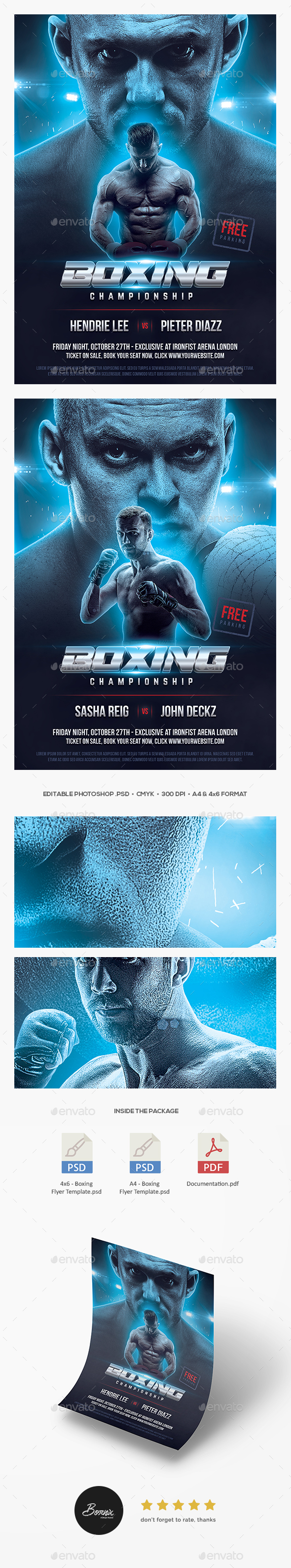 GraphicRiver Boxing Flyer 20479887