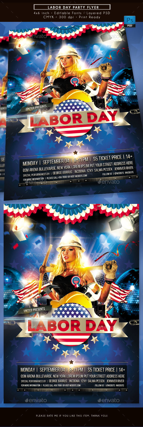 GraphicRiver Labor Day Party Flyer 20479888