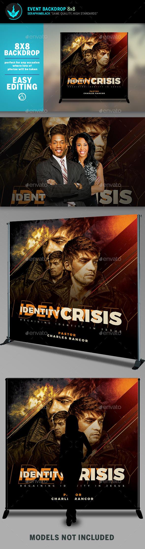 Identity Crisis 8x8 Event Backdrop Template - Signage Print Templates