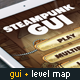 Steampunk GUI with Industrial Level Map
