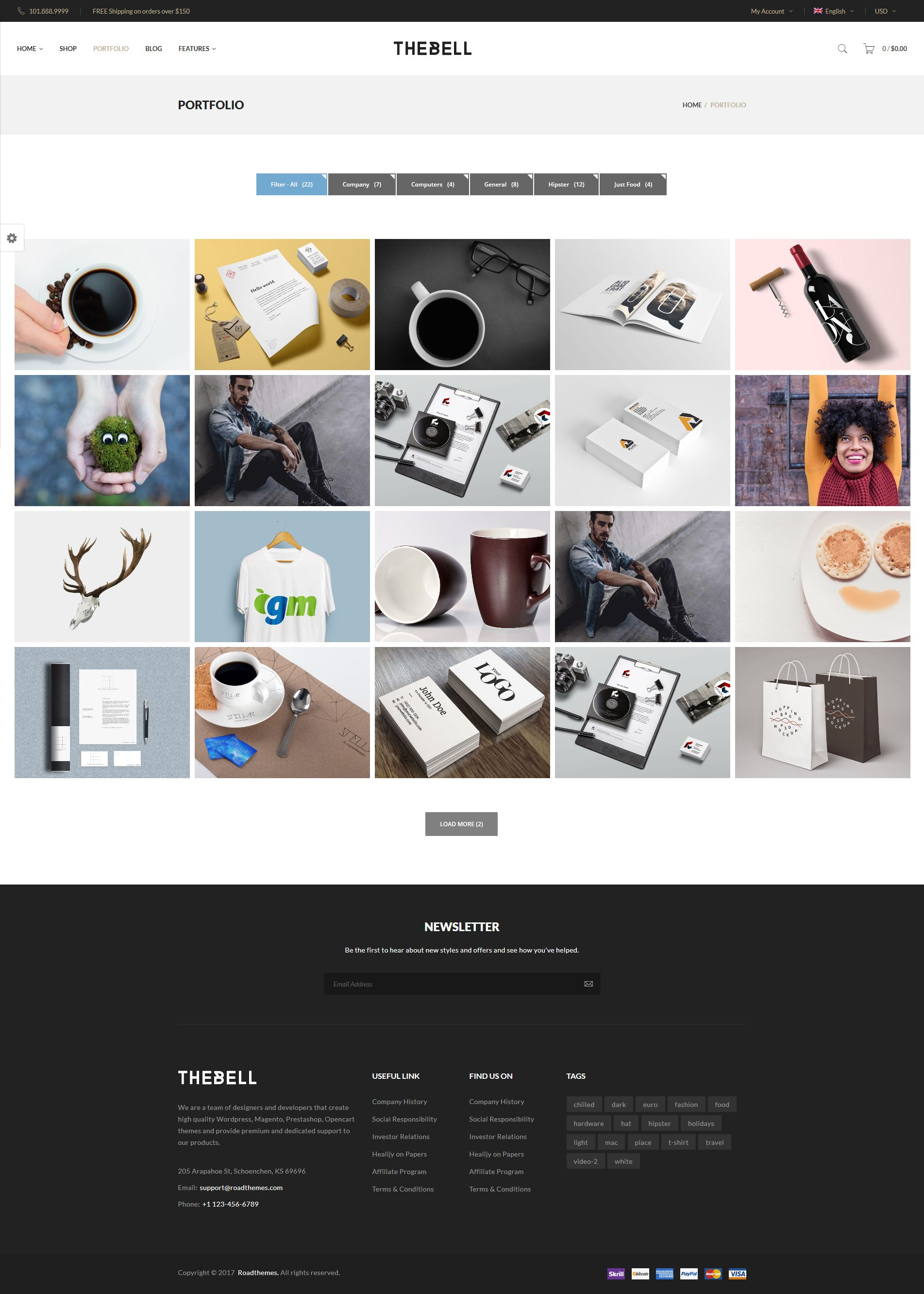 Thebell - Multipurpose Responsive WordPress Theme by roadthemes ...
