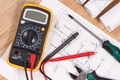 Electrical drawings, multimeter for measurement in electrical installation - PhotoDune Item for Sale