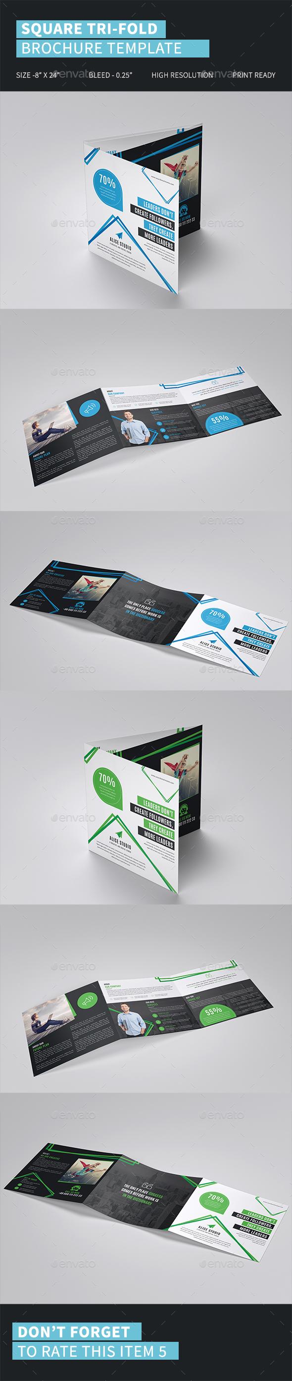 Square Tri-Fold Brochure Template - Corporate Brochures