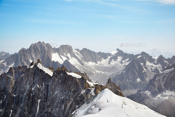 Chamonix Mont Blanc Massif - Stock Photo - Images
