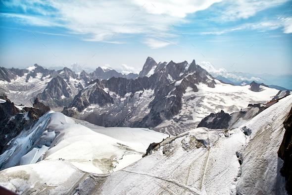 Chamonix Mont Blanc Massif, French Alps - Stock Photo - Images