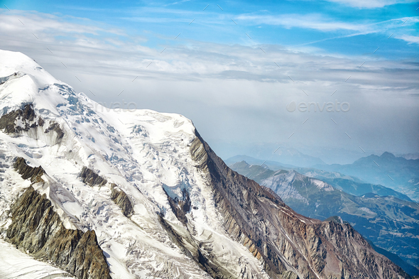 Chamonix Mont Blanc Massif, French Alps - Stock Photo - Images