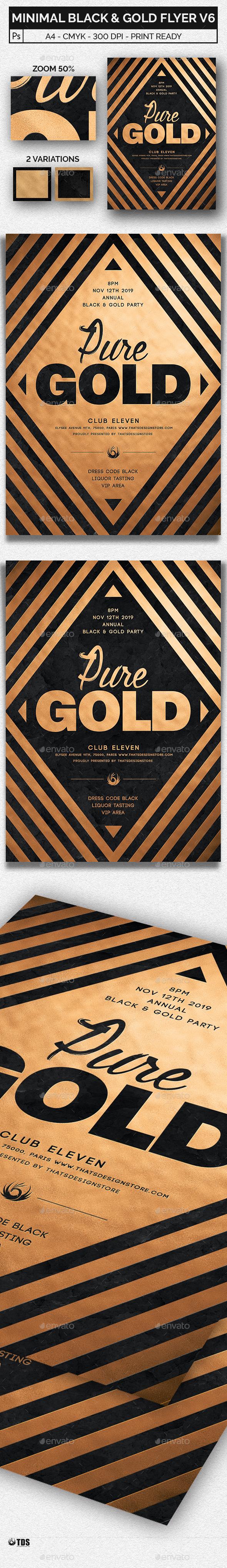 GraphicRiver Minimal Black and Gold Flyer Template V6 20480685