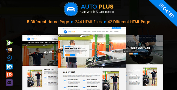 Auto Plus – Car Wash and Car Repair HTML Template - Business Corporate