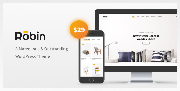 ThemeForest Robin A Furniture WooCommerce WordPress Theme 20045842