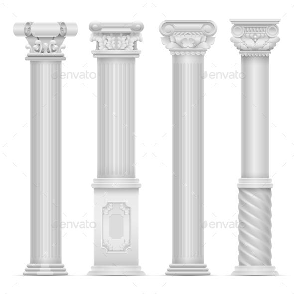 GraphicRiver Realistic White Antique Roman Column Vector Set 20481032