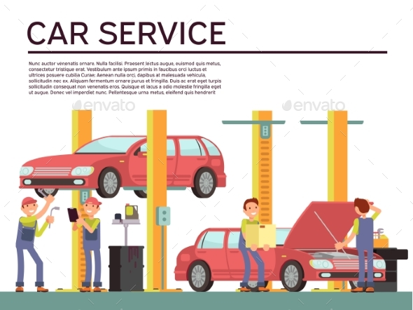 GraphicRiver Automobile Service and Vehicle Check Vector 20481080