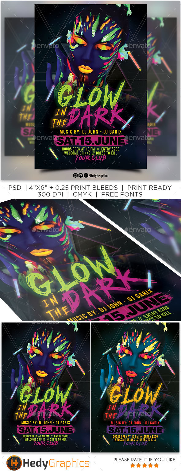 Glow in the Dark - Clubs & Parties Events